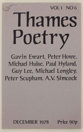 Thames Poetry Vol I No. 6 December 1978. A. A. CLEARY