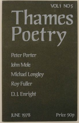 Thames Poetry Vol I No. 5 December 1978. A. A. CLEARY