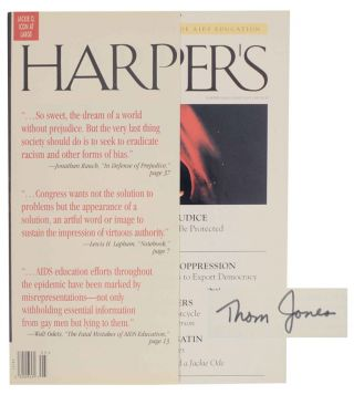 Nights in White Satin in Harper's Magazine May 1995 (Signed First Edition). Thom JONES