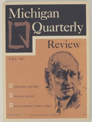 Michigan Quarterly Review Vol. VI, No. 4 October 1967. Sheridan BAKER