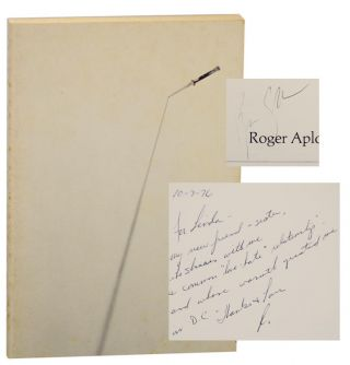 Stiletto (Signed First Edition). Roger APLON