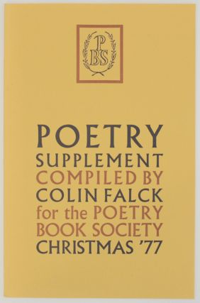 Poetry Supplement Christmas 1977. Colin FALCK, Susannah Amoore - Fleur Adcock, Anne Stevenson,...