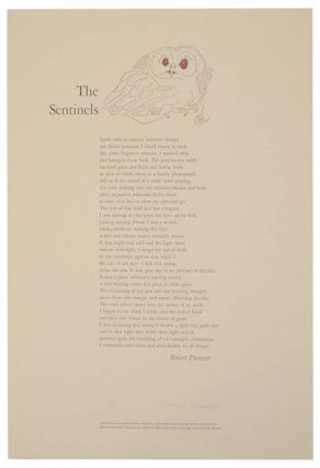 The Sentinels (Signed Broadside). Robert DUNCAN