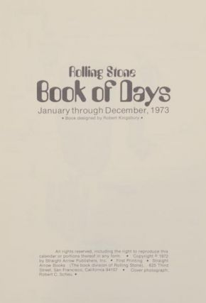 Rolling Stone Book of Days 1973