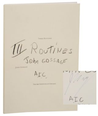 Three (3) Routines (Signed First Edition). John GOSSAGE