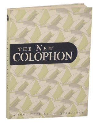 The New Colophon Volume I (1) , Part Two (2