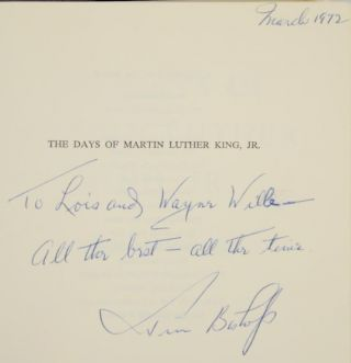 The Days of Martin Luther King, Jr. (Signed First Edition)