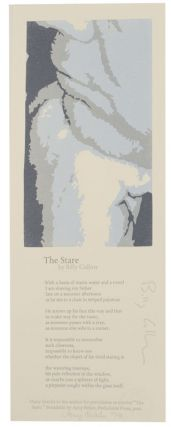 The Stare (Signed Broadside First Edition). Billy COLLINS
