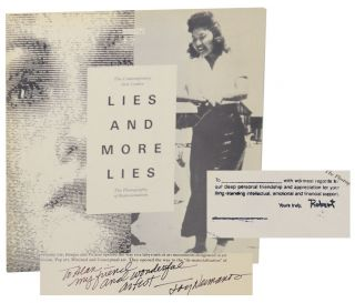 Lies and More Lies: The Photography of Representation (Signed First Edition). Lew THOMAS, Joyce...