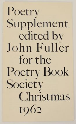 Poetry Supplement. John FULLER, Edwin Morgan Francis Hope, GEorge Keithley, Robert Conquest,...