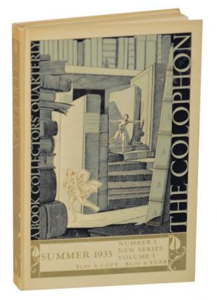 The Colophon A Book Collectors Quarterly New Series Volume 1 Number One (1