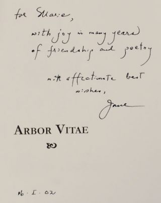 Arbor Vitae (Signed First Edition)