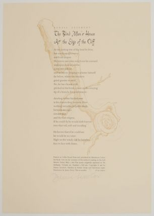 The Blind Man's House At The Edge of The Cliff (Signed Broadside). Denise LEVERTOV