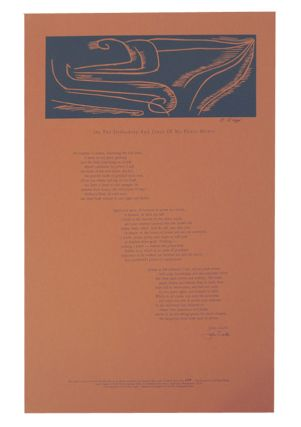 On The Orthodoxy And Creed of My Power Mower (Signed Broadside). John CIARDI, Karyl Klopp