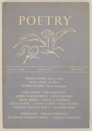 Poetry Magazine, Volume 89, Number 4, January 1957. Henry RAGO, Rosalie Moore Sylvia Plath, Thom...