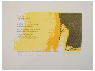 Cancer (Signed Broadside First Edition). Billy COLLINS