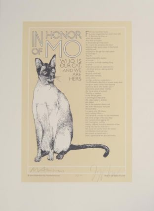 In Honor of Mo Who Is Our Cat, And We Are Hers (Signed Broadside). Joy HARJO, Marshall Arisman