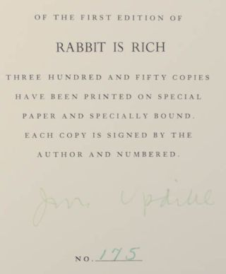 Rabbit is Rich (Signed Limited Edition)